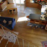Casaviva: particolari interni, vista dall'alto